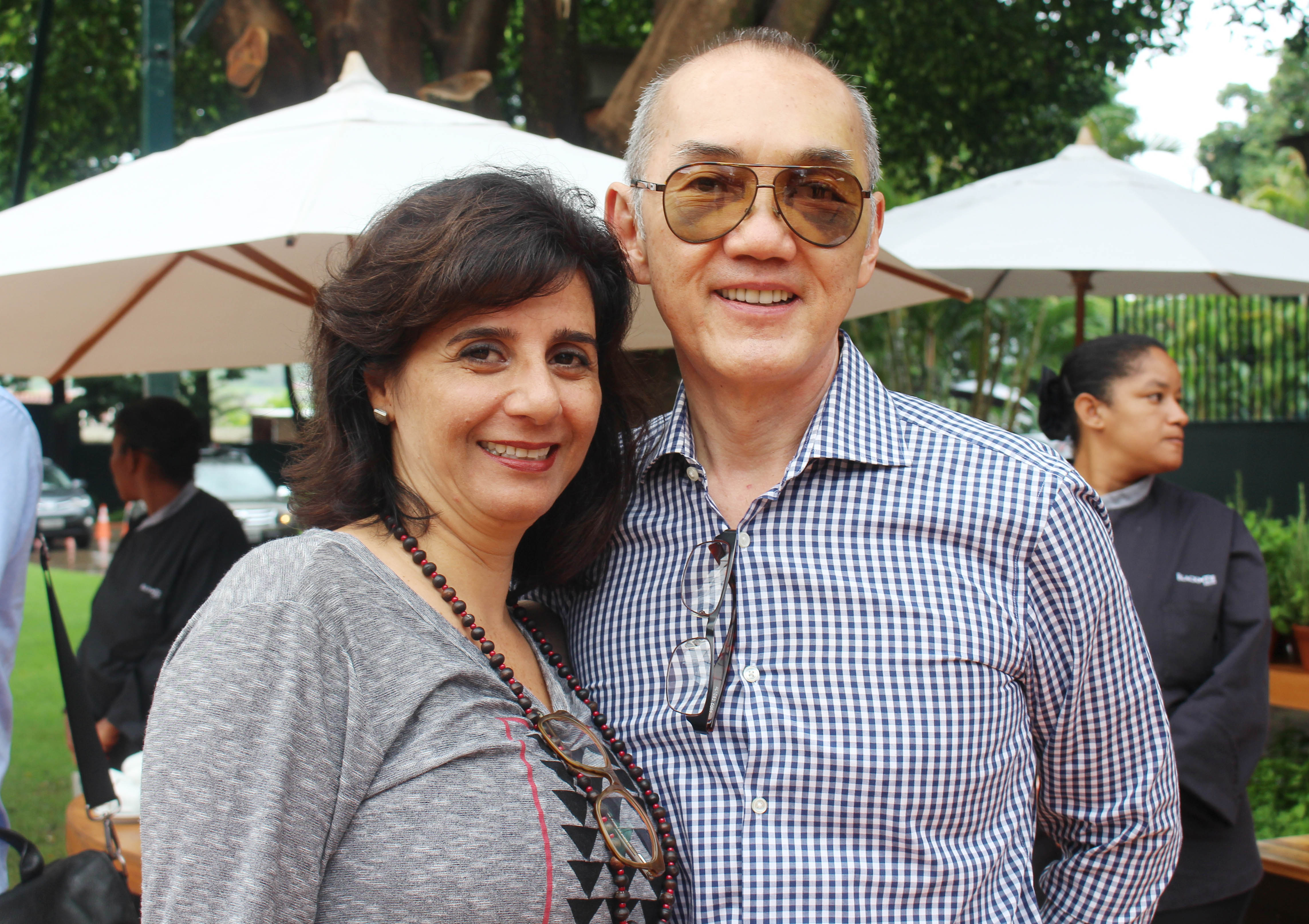 Maria Teresa Loures e Beto Higuchi