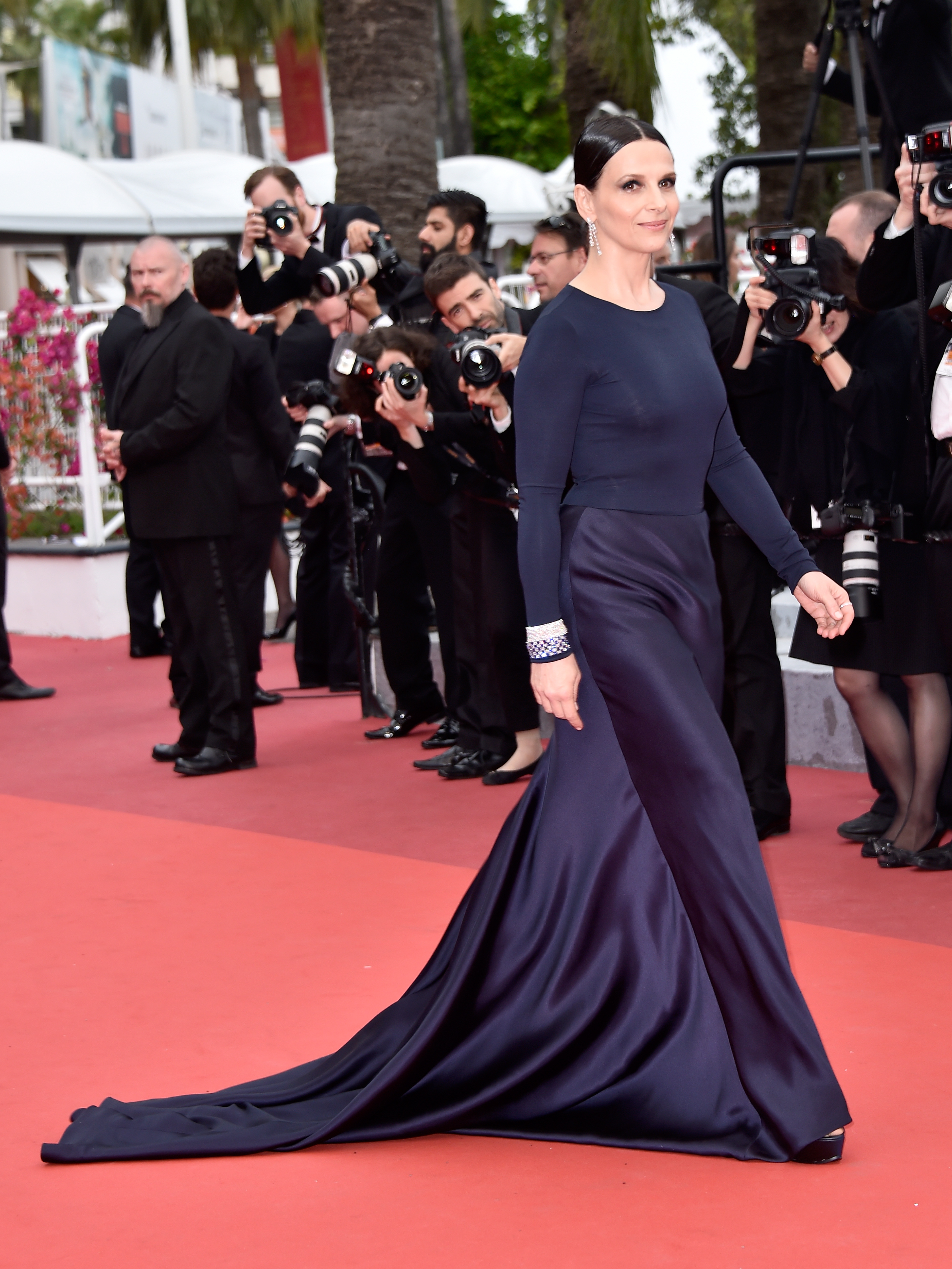 "CANNES, FRANCE - MAY 13: Actress Juliette Binoche attends the ""Slack Bay (Ma Loute)"" premiere during the 69th annual Cannes Film Festival at the Palais des Festivals on May 13, 2016 in Cannes, France. (Photo by Pascal Le Segretain/Getty Images)"